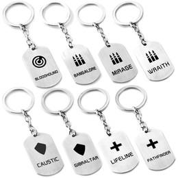 Wholesale cartoons online – design Game Apex legends Necklace new Apex legends keychain cartoon key ring Pendant for Children gifts styles C6796