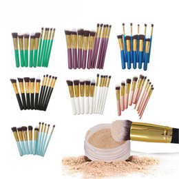 $enCountryForm.capitalKeyWord NZ - The New design Promotional zipper bag nylon fiber shape hair 10 pcs shell makeup brush set
