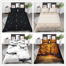 $enCountryForm.capitalKeyWord Australia - Elegant Plaid Bedding set Beautiful scenery Comforter Cover Twin Full Queen Size with Sheet Pillow Gift for Adult of Bedding Cover