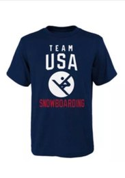 Team Usa Clothing UK - Team USA 2018 Snowboarding Team Winter Olympics T shirt PyeongChang 2018 Short Sleeve Cotton T Shirts Man Clothing