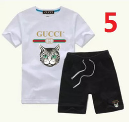 Summer Football Camps Australia - Fen summer new fashion children's short sleeve suit comfortable and breathable cute fashion golden letter f print badge