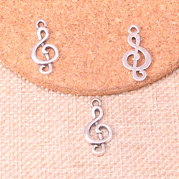 $enCountryForm.capitalKeyWord NZ - 160pcs Charms musical note Antique Silver Plated Pendants Fit Jewelry Making Findings Accessories 23mm