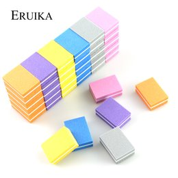 mini buffer blocks Australia - Files & Buffers 20pcs lot Mini File Sponge Nail Sanding Blocks Cuticle Remover UV Gel Polish Manicure Files Nail Buffer