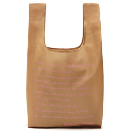 Foods Fiber online shopping - Supermarket Hand Bag House Rose Reusable Thickening Shopping Bags Polyester Fiber Foldable Brown Sturdy Durable Simple Reticule jsD1