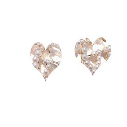 Love Letter Stud Earrings NZ - Women Letter G Stud Earring Pearl Rhinestone Famous Earring Gift for Love Girlfriend Fashion Jewelry Accessories