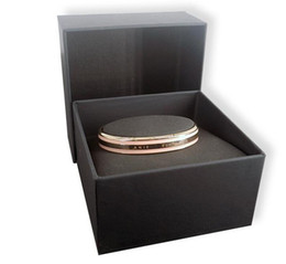 Brand Luxury Style Watch Australia - Luxury Brand Watches style Cuff dw Bracelet Stainless Steel Women Men Mens Jewelry Fashion Elegant Bangle with Original box