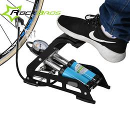 $enCountryForm.capitalKeyWord Australia - ROCKBROS Bicycle Cycling Tire Air Pump Pedal type MTB Road Bike Car Tyre Pump Steel High-Pressure High-Strength Portable #535736