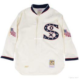 Chicago weiß Mitchell Ness Retro 1917 Button Up Jersey im Angebot