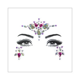crystal gems Australia - Female Face Jewelry Gems Rhinestone Temporary Tattoo Sticker Decoration Party Makeup Flash Bling Shining Crystal Tattoo Adhesive Body Art 3D