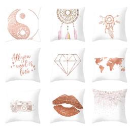 $enCountryForm.capitalKeyWord Australia - Rose Gold Geometric Pineapple Glitter Polyester Sofa Decorative Cushion Cover For Home Decor 45x45cm Pillow Case
