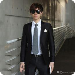 $enCountryForm.capitalKeyWord Australia - Latest Designs Black Men Suits Wedding Man Blazers Jacket Formal Groom Tuxedos 2Piece(Coat+Pants) Gentle Business Suit Costume Homme Ternos