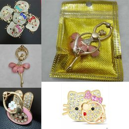 Samsung Cell Phone Holders Australia - Cute Animal Ring Phone Holder Cat Head Ballet Dancer Bling Diamond Unique Cell Phone Holder Fashion For iPhone Samsung with package
