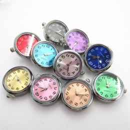 button click Canada - New 6pcs lot Mix Color Watch Face Click Snap Buttons for 18mm Snap Bracelet&Bangles DIY Snap Jewelry Interchangeable buttons