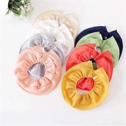 $enCountryForm.capitalKeyWord Australia - 8 Colors INS Newest Baby Burp Clothes Organic Cotton Fabric Blank Ruffles 360 Degree Round Newborn Feeding Soft Breathable Bandana Bibs