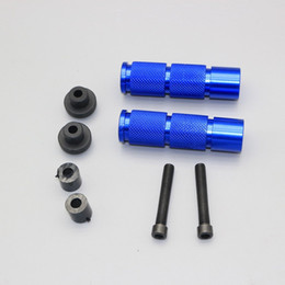 Cnc Pedals Australia - 1Pair Universal CNC Aluminum Alloy Motorcycle ATV Rear Footrests Foot Pegs Pedals Motorbike Foot Rests Pedal