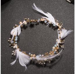 $enCountryForm.capitalKeyWord Australia - 2019 Korean Feather Headdress Hair Belt Sweet Smart Elf Hair Jewelry Marriage Jewelry Wedding Dress Accessories