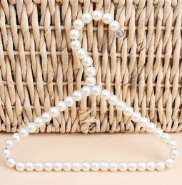 $enCountryForm.capitalKeyWord Australia - New Plastic Pearl Beaded Clothes Dress Coat Hangers Wedding For Pet Kid Children Save-Space Storage Organizer