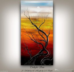 $enCountryForm.capitalKeyWord Australia - Framed MODERN TREE ART PAINTING large Handpainted ABSTRACT CLOUD LANDSCAPE art Oil Painting Qn Canvas.Multi sizes,Free Shipping Ab076