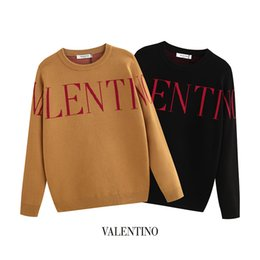 Mens cotton crew neck sweaters online shopping - 2019 Mens Sweater Pullover Men Brand Deisgner Hoodie Long Sleeve Luxury Designer Sweatshirt Letter Embroidery Knitwear Winter Clothes