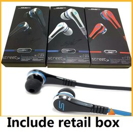 Sms Audio Street Earbuds UK - earbuds mini 50 Cent Earphones SMS Audio Street by 50 Cent Headphone In-Ear headset for Mp3 Mp4 Cell phone tablet wholesale