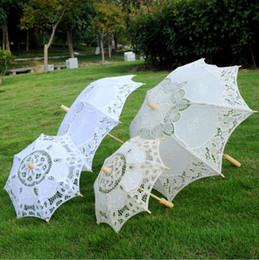 $enCountryForm.capitalKeyWord Australia - SIZE L Lace Manual Opening Wedding Umbrella Bride Parasol Umbrella Accessories For Wedding Bridal Shower