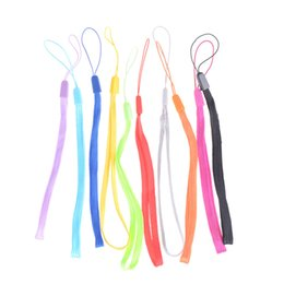 Wholesale wrist hand cell phone mobile chain straps keychain Charm Cords DIY Hang Rope Lariat Lanyard colorful