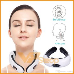 $enCountryForm.capitalKeyWord Australia - Electric Pulse Back Neck Massager Pain Relief Tool Health Care Relaxation Multifunctional Physiotherapy Body Massage Electronic Message