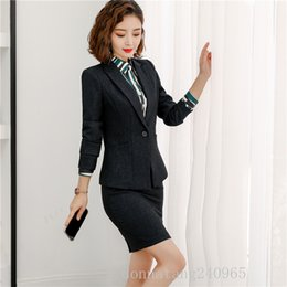 Discount women blazers 4xl - Autumn winter pants suits women black formal long sleeve slim blazer and pants office ladies professional work wear