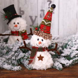 Discount welcome door decorations - Christmas Ornaments Doll Cute Welcome Santa Snowman Xmas Door Hanging Decoration Doll Christmas Tree Decorations