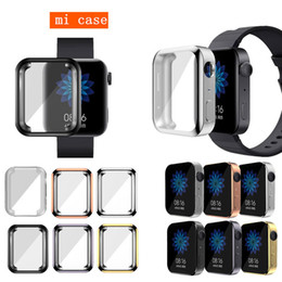 Wholesale mi watch resale online - Soft Full Case for Xiaomi Watch Cover Screen Protector Shell for MI Smart Watch Bumper Slim Plating Tpu Accessories