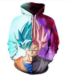 Wholesale dragon ball z hoodie for sale – custom Release New Fashion Man Women Designer Perfect Harajuku Style Dragon Ball Z Goku D Print Long Sleeve Hoodies Casual Sportswear RW0163