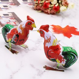 $enCountryForm.capitalKeyWord Australia - Children Funny Wind Up Cock Rooster Tin Toys Vintage Clockwork Perfect Collectable Gift Kids Classic Toys
