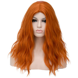 China Colorful Water Wave Synthetic Wigs For Women !8 inch Middle Part Long Hair Cosplay Wigs Christmas Part Gifts Factory Deal Vendors supplier factory for hairs suppliers