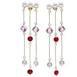 $enCountryForm.capitalKeyWord Australia - Summer Fashion Long Tassel Earrings Women S925 Silver Eardrop Eardrop Designer Earrings For Wedding Party Female Brand Pearl Ear Studs
