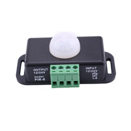 profile for led strips Canada - 12V 24V PIR Motion Sensor LED Switch Detector 6A for 5050 5630 2835 Strip Profile Ruban Light Tape Infrared Detection 12 V 24 Volt