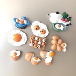 $enCountryForm.capitalKeyWord Australia - Creative simulation cute egg poached egg three-dimensional resin craft refrigerator stickers