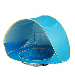 $enCountryForm.capitalKeyWord UK - Blue Baby Beach Tent Waterproof Up Portable Shade Pool Uv Protection Sun Shelter For Infant Kids Outdoor Camping Sunshade Beac