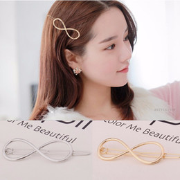 $enCountryForm.capitalKeyWord Australia - Fashion Women Infinity Hair Clips Barrette Hairpin Headband Styling Accessories Perfect Gift For Girls Silver Gold Color