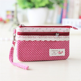 $enCountryForm.capitalKeyWord Australia - Cotton polka dot women long change wallets ladies coin purse bags female small phone pouches girls carteira organizer handbags