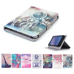 Moto G Leather Case NZ - Cartoon Printed Universal 7 inch Tablet Case for Samsung Galaxy Tab 7.7 LTE I815 P6800 Cases kickstand PU Leather Flip Cover Cases