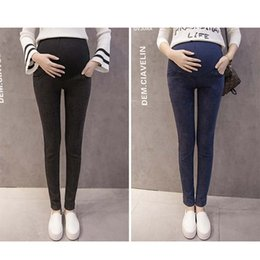 f2d84bc99adde Women belly jeans online shopping - Maternity High Waist Jeans Maternity  Belly supporting Trousers Pregnant Women