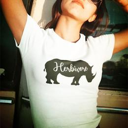 $enCountryForm.capitalKeyWord Australia - Herbivore Shirt Vegan Shirt Plant Based T-Shirt Veganism Tee Animal Rights Gift for Vegans Cute Herbivore Rhino Shirts Dropship