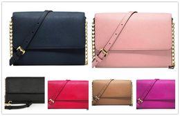 $enCountryForm.capitalKeyWord Australia - Fashion new women's shoulder bag cross pattern PU leather chain bag messenger woman wallet handbag Cross Body bag