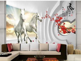$enCountryForm.capitalKeyWord Australia - custom size 3d photo wallpaper living room mural horse group tunnel Chinese painting sofa TV backdrop wallpaper non-woven wall sticker