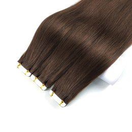 24 inch tape remy hair extensions online shopping - Tape In Remy Human Hair Extensions inch Straight PU Skin Weft Hair Extensions Multi Colors Remy Hair For Fashion Women
