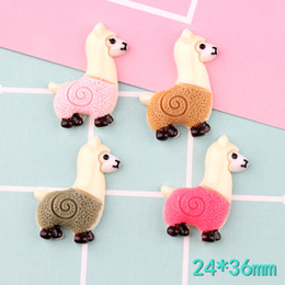 $enCountryForm.capitalKeyWord NZ - 100pcs 24*36mm Mix Cute little sheep resin lama Alpaca charms micro landscape creative accessories Keychain pendant DIY material