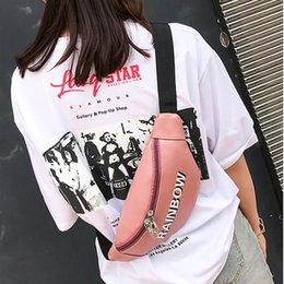 $enCountryForm.capitalKeyWord Australia - Women's Fashion Crossbody Shoulder Bag Pocket Outdoor Chest Bag Cosmetic Letters Decorated Female Fanny Packs Women Bum