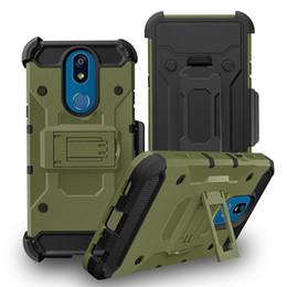$enCountryForm.capitalKeyWord Australia - Heavy Duty Armor Hard Case For LG Stylo 5 Metropcs K40 MOTO G7 play Phone Case + Belt Clip Holster Kickstand TPU+PC Shockproof