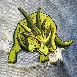 $enCountryForm.capitalKeyWord Australia - 30 PIC 10*8.5CM embroidery dinosaur dragon cloth paste clothes patch hole baby packaging decorative pattern back glue