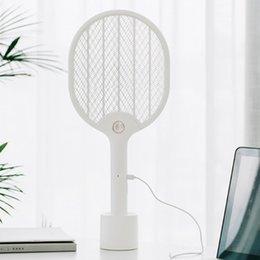 venda por atacado Xiaomi Youpin JJ Elétrica Mosquito Swatter recarregável LED elétrica Insect Bug Fly Mosquito dissipador assassino Racket 3-Layer Net